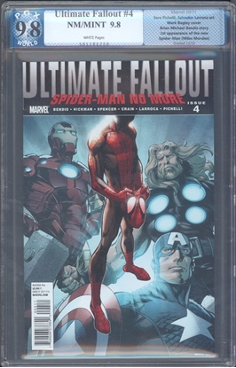 Picture of ULTIMATE FALLOUT #4 PGX  LIKE CGC 9.8 NM/MT 1ST APP OF MILES MORALES