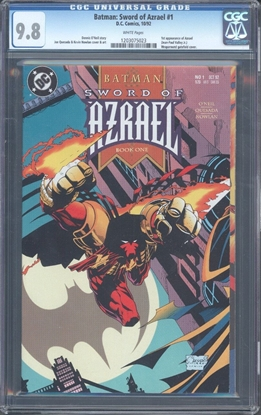 Picture of BATMAN SWORD AZRAEL #1 CGC 9.8 NM/MT