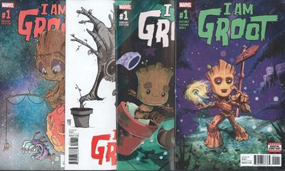 Picture of I AM GROOT #1 1ST PRINT 1:10 1:25 & 1:50 VARIANT 4 COVER SET