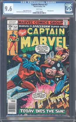 Picture of CAPTAIN MARVEL #57 CGC 9.6 NM+ WP