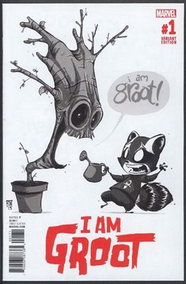 Picture of I AM GROOT #1 1:50 YOUNG B&W ORIGINAL VAR NM-