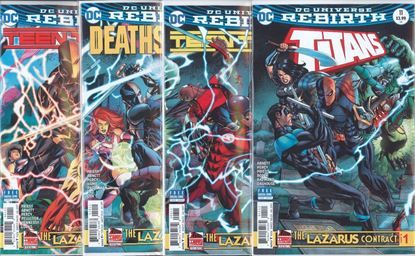 Picture of LAZARUS CONTRACT 1ST PRINT SET TITANS TEEN #11 & ANNUAL 1 TITANS #8 DEATHSTROKE #19
