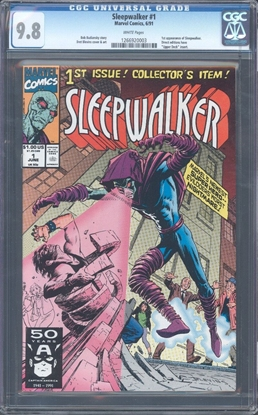 Picture of SLEEPWALKER #1 CGC 9.8 NM/MT WP