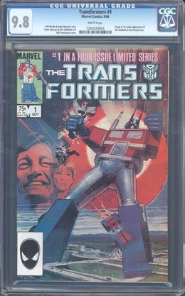 Picture of TRANSFORMERS (1984) #1 CGC 9.8 NM/MT WP