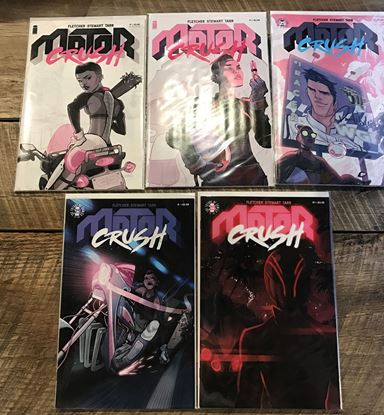 Picture of MOTOR CRUSH #1 2ND PRINT #2-5 1ST PRINT SET