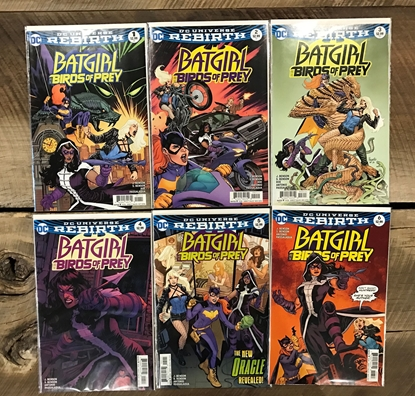Picture of BATGIRL AND THE BIRDS OF PREY (REBIRTH) #1-6 1ST PRINT SET
