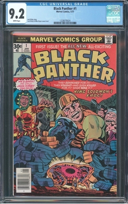 Picture of BLACK PANTHER (1977) #2 CGC 7.5 VF- OWW (4082)