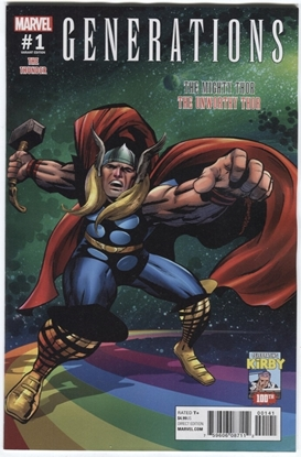 Picture of GENERATIONS UNWORTHY THOR & MIGHTY THOR #1 KIRBY 100 VAR
