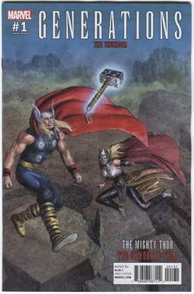 Picture of GENERATIONS UNWORTHY THOR & MIGHTY THOR #1 PASTORAS VAR
