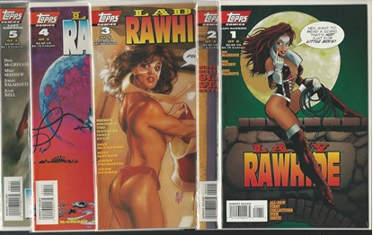 Picture of LADY RAWHIDE #1 2 3 4 5 SET NM TOPPS ADAM HUGHES
