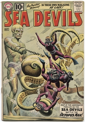 Picture of SEA DEVILS (1961) #1 5.0 VG/FN OWW