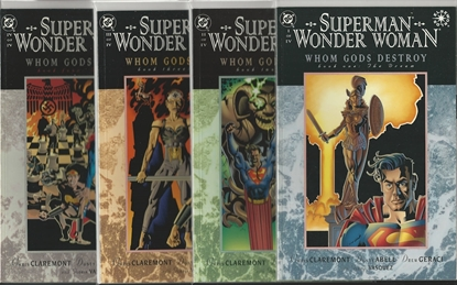 Picture of SUPERMAN WONDER WOMAN WHOM  GODS DESTROY #1-4 SET