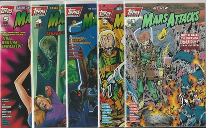 Picture of MARS ATTACKS #1 2 3 4 5 SET TOPPS GIFFEN ADLARD