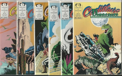Picture of CADILLACS AND DINOSAURS #1 2 3 4 5 6 EPIC COMICS SET NM
