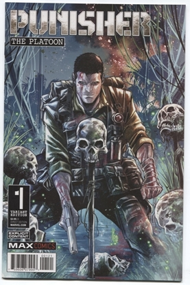 Picture of PUNISHER PLATOON #1 (OF 6) CHECCHETTO VAR  VF/NM