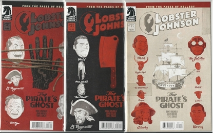 Picture of LOBSTER JOHNSON #1 2 3 THE PIRATE'S GHOST MIGNOLA SET NM
