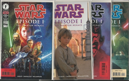 Picture of STAR WARS EPISODE I 1-4 SET WITH ONE-SHOTS QUI-GON OBI-WAN NM