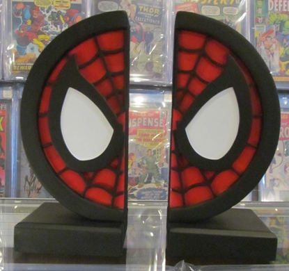 Picture of SPIDER-MAN LOGO COLLECTIBLE BOOKENDS NEW IN BOX NIB