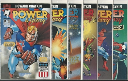 Picture of POWER & GLORY #1 2 3 4 A & B SET+ HOLIDAY SPECIAL CHAYKIN NM