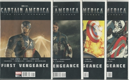 Picture of CAPTAIN AMERICA THE FIRST AVENGER #1 2 3 4 NM SET MOVIE COMIC