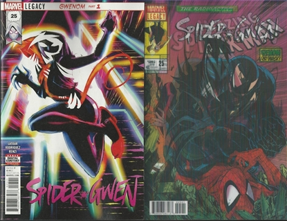 Picture of SPIDER-GWEN #25 LEG REGULAR AND LENTICULAR COVER SET NM