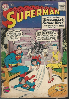 Picture of SUPERMAN (1939) #131 10 CENT COMIC SUPER TWINS