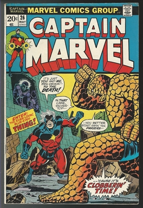 Picture of CAPTAIN MARVEL (1968) #26 5.0 VG/FN 2ND THANOS