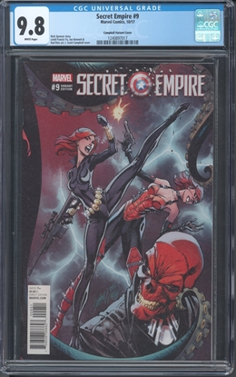 Picture of SECRET EMPIRE #9 1:50 CAMPBELL VARIANT COVER CGC 9.8 NM/MT