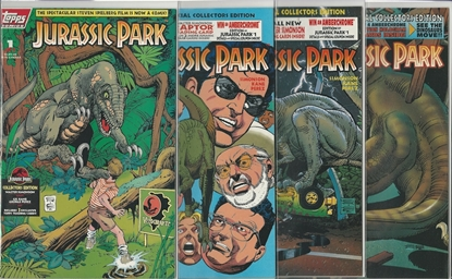 Picture of JURASSIC PARK #1 2 3 4 TOPPS COMICS SET NM MOVIE