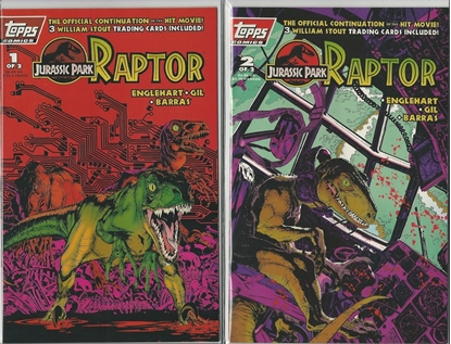 Picture of JURASSIC PARK RAPTOR #1 & 2 TOPPS COMICS SET NM MOVIE