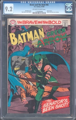 Picture of BRAVE AND THE BOLD #85 CGC 9.2 NM- 1ST NEW GREEN ARROW BY ADAMS