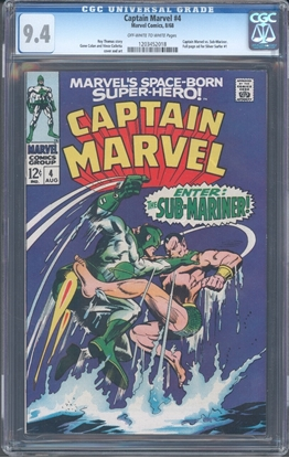 Picture of CAPTAIN MARVEL (1968) #4 9.4 NM VS SUBBY COVER/STORY