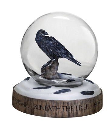 Picture of DARK HORSE DELUXE HBO GAME OF THRONES THREE EYED RAVEN SNOW GLOBE NEW NIB