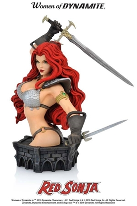 Picture of WOMEN OF DYNAMITE RED SONJA  BUST BY ARTHUR ADAMS NEW NIB