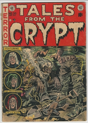 Picture of TALES FROM THE CRYPT #30 BRUTAL JACK DAVIS COVER GOOD