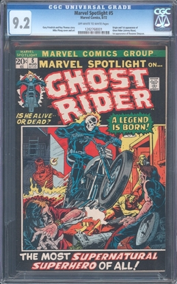 Picture of MARVEL SPOTLIGHT (1972) #5 CGC 9.2 NM- OWW