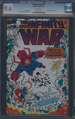 Picture of INFINITY WAR (1992) #3 CGC 9.6 NM+ WP (6677)