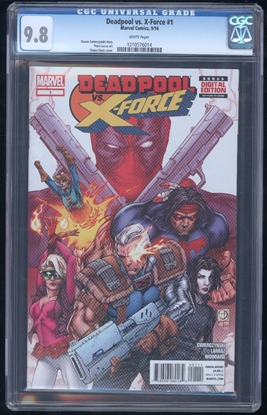 Picture of DEADPOOL VS. X-FORCE (2014) #1 CGC 9.8 NM/MT WP (2130)