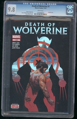 Picture of DEATH OF WOLVERINE (2014) #1 CGC 9.8 NM/MT WP (7055)