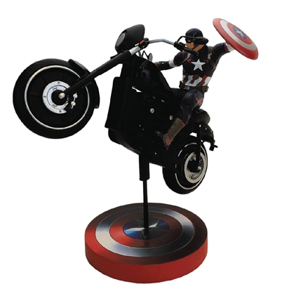 Picture of AVENGERS CAPTAIN AMERICA ON BIKE PREMIUM MOTION STATUE (NET)