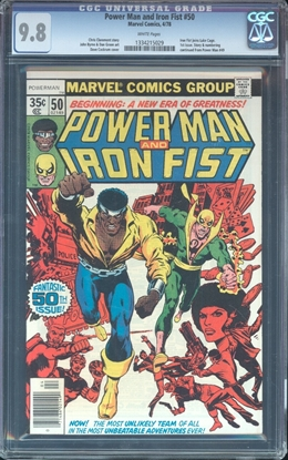 Picture of POWER MAN AND IRON FIST #50 CGC 9.8 NM/MT IRON FIST JOINS LUKE CAGE (ID 7590)