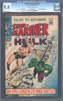 Picture of TALES TO ASTONISH (1959) #100 CGC 9.4 NM OWW (69)