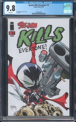 Picture of SPAWN KILLS EVERYONE #1 CGC 9.8 NM/MT 1ST PRINT (ID 7386)