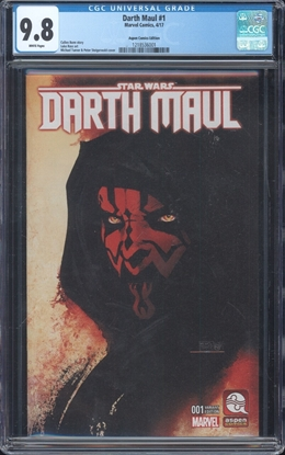 Picture of DARTH MAUL (2017) #1 CGC 9.8 NM/MT MICHAEL TURNER COLOR VARIANT