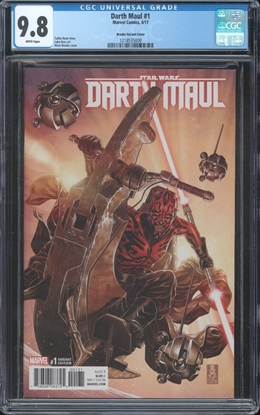 Picture of DARTH MAUL (2017) #1 CGC 9.8 NM/MT BROOKS 1:50 VARIANT COVER WP
