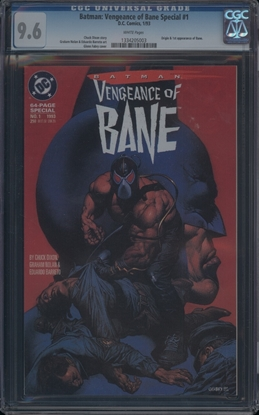Picture of BATMAN: VENGEANCE OF BANE SPECIAL #1 CGC 9.6 NM+ WP (6535)