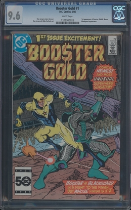 Picture of BOOSTER GOLD (1986) #1 CGC 9.6 NM+ WP (4084)