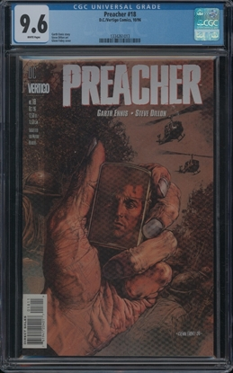 Picture of PREACHER #18 CGC 9.6 NM+ GARTH ENNIS STORY AMC SHOW (ID 7342)