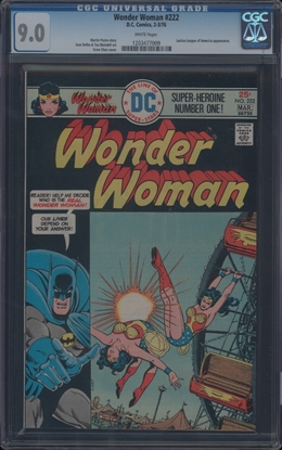 Picture of WONDER WOMAN (1942) #222 CGC 9 VF/NM WP (4632)