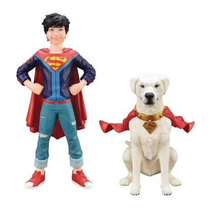 Picture of DC COMICS SUPERSONS JONATHAN KENT & KRYPTO 2PK ARTFX+ STATUE